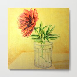 flower in a glass . illustration . art Metal Print