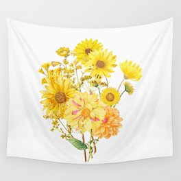 Vintage & Shabby Chic - Late Summer Flowers Wall Tapestry