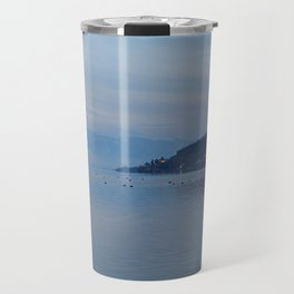 Lake Ohrid Blue hour Travel Mug