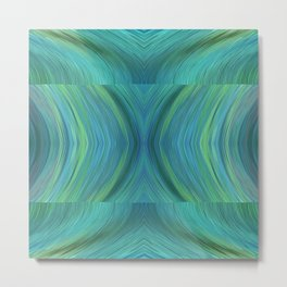 Abstract Turquoise Pattern 595 Metal Print