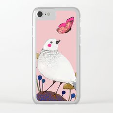pink wall Clear iPhone Case