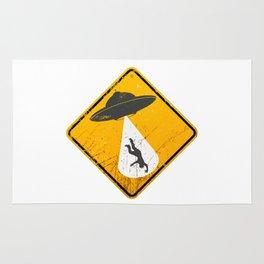 Caution: Abduction Zone Rug