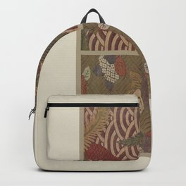 Verneuil - Japanese paper and fabric designs (1913) - 06: Hydrangeas and palm trees Backpack