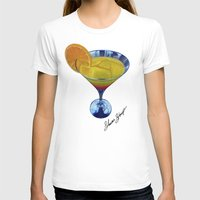 martini T-shirts featuring Sunset Martini by Shawn Stomp
