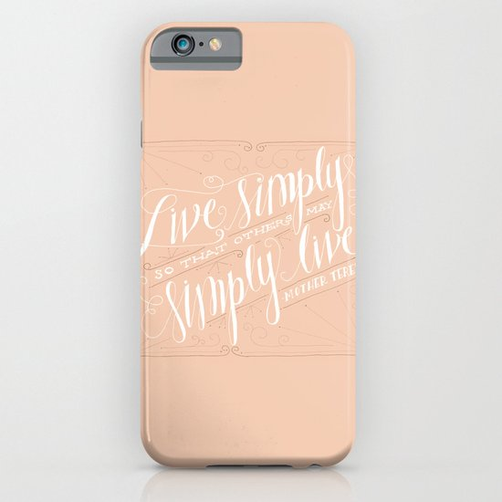 Live Simply iPhone & iPod Case