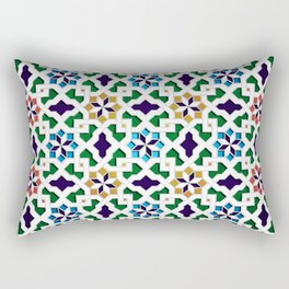 Beautiful oriental flower pattern 8 Rectangular Pillow