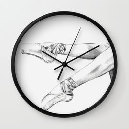 pointe shoes Wall Clock