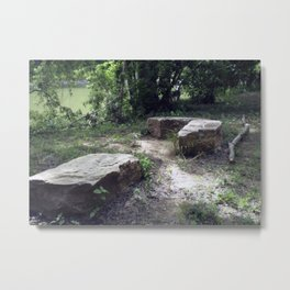 Rock Seating at the Duck River Metal Print