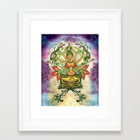 goddess Framed Art Prints featuring Goddess by Divya Suvarna