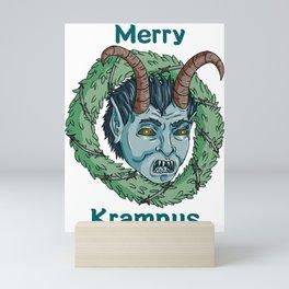 Merry Krampus Wreath Mini Art Print