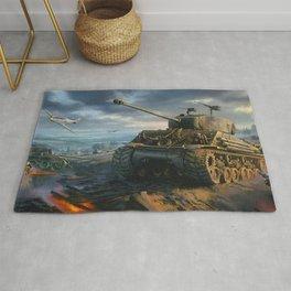 DDay Tank Battle Rug