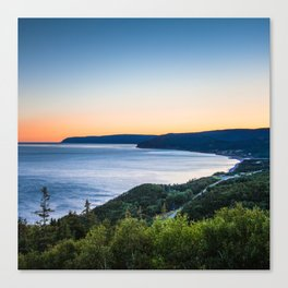 Cabot Trail, Cape Breton.  Nova Scotia, Canada Canvas Print
