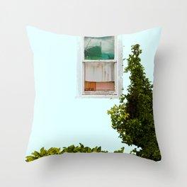 Turquoise Window Throw Pillow