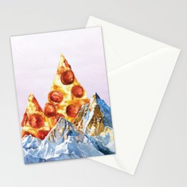 Pepperoni Pizza Peaks Stationery Cards