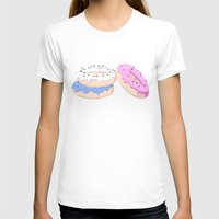 donut T-shirts featuring Donut by MlleLowra