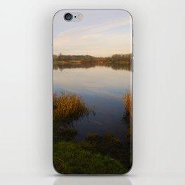 sunset at longlands lake iPhone Skin