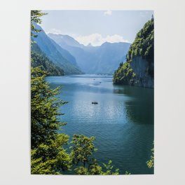 Germany, Malerblick, Koenigssee Lake III- Mountain Forest Europe Poster