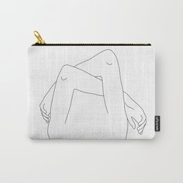 Arms and hands minimal line drawing illustration - Dane Carry-All Pouch