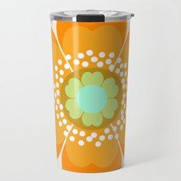 Jivin' - 70's retro throwback art floral flower motif decor hipster Travel Mug