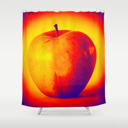 Hot and cold apple Shower Curtain