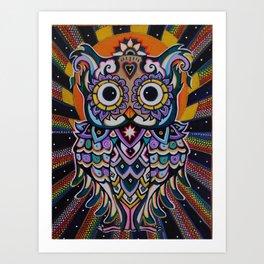 Radiant Owl. Art Print