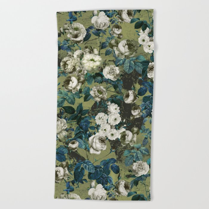 Midnight Garden Beach Towel