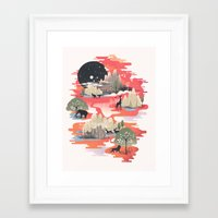 dreams Framed Art Prints featuring Landscape of Dreams by dan elijah g. fajardo