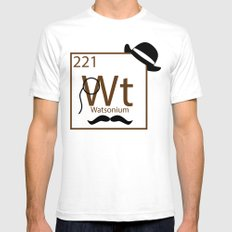 My Dear Watson is Elementary SMALL Mens Fitted Tee White