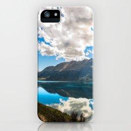 Lake Wakatipu Panorama at Golden Hour iPhone Case