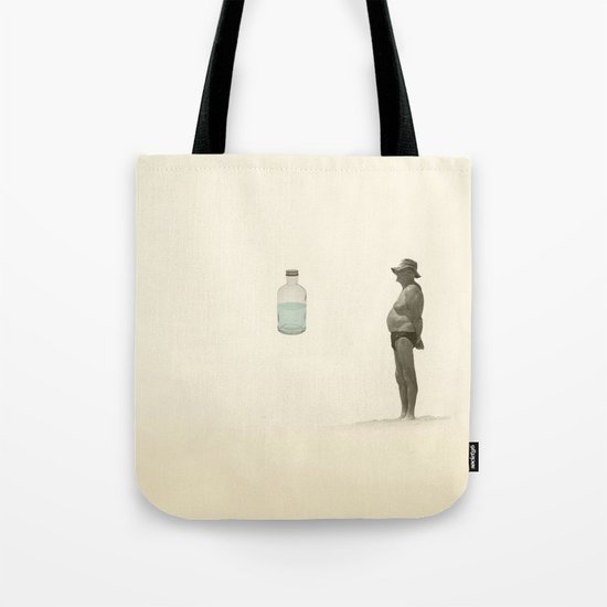 beach and a bottle Tote Bag