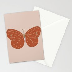 Minimalist Butterfly Art Stationery Cards
