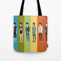 tegan and sara Tote Bags featuring Tegan and Sara: Tegan collection by Cas.