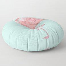 Flamingo, Pink Flamingo, Aqua Floor Pillow