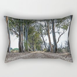 Dirt road in the countryside of southern Italy Rectangular Pillow