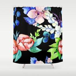 Contemporary, Chic, Floral Bouquet Watercolor Print Shower Curtain