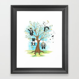 Les Petits - Apple Tree Framed Art Print