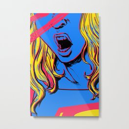 S U P E R G I R L Metal Print
