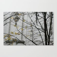 Seattle, yellow and white city Canvas Print