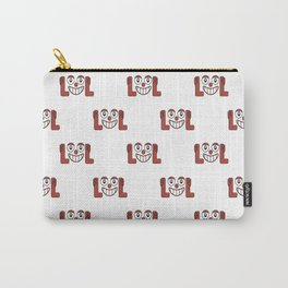 Funny Emoji Laughing Out Loud Pattern Carry-All Pouch
