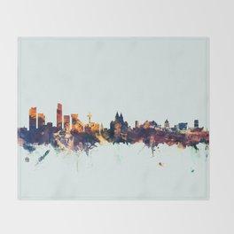Liverpool England Skyline Throw Blanket