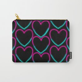 Neon hearts Carry-All Pouch