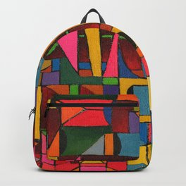 Colors In Collision 1 - Geometric Abstract of Colors that Clash Backpack