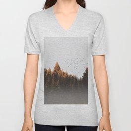 smoky forest Unisex V-Neck