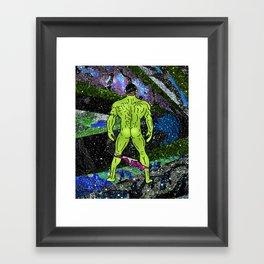 Incredible Butt in Mermaid Peacock Space Framed Art Print