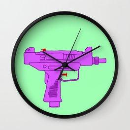 Toy Uzi Wall Clock