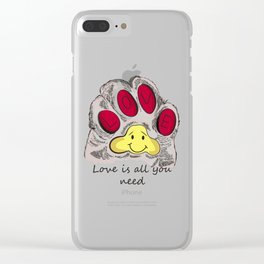 Cat's paw Clear iPhone Case