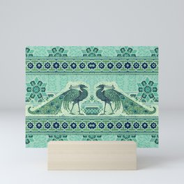 Peacocks Mosaic Mini Art Print