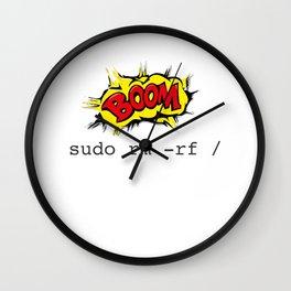 Sudo RM RF for Men Women Linux Command Wall Clock