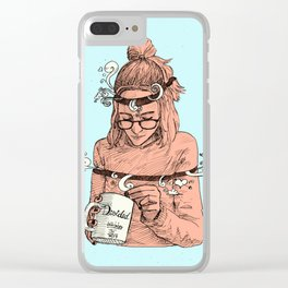 Dividida Clear iPhone Case