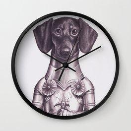 Dachshund Knight Wall Clock